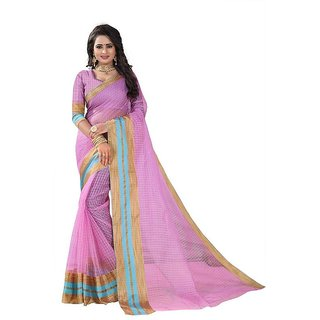 Rite Creation Mart Pink Color Poly Cotton Printed Saree -BO331SPinkPC-278