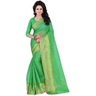 Rite Creation Mart Green Color Poly Cotton Printed Saree -BO284SGreenPC-218