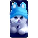 Oppo F1 Plus Case, Oppo R9 Case, Cute Kitten Blue Slim Fit Hard Case Cover/Back Cover for Oppo R9/Oppo F1 Plus