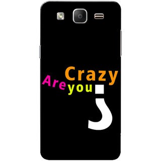 Galaxy On5 Case, Galaxy On5 Pro Case, Are You Crazy Black Slim Fit Hard