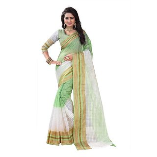 Rite Creation Mart Light Green Color Poly Cotton Printed Saree -BO325SLight GreenPC-272