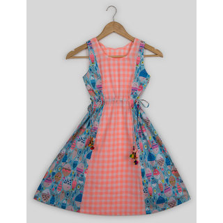 Silver Thread Double Print With Tassles For Girls
