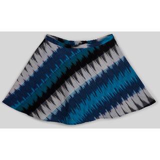 Silver Thread Smart Ikkat Print Short Skirt