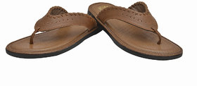 Enzo Cardini Men's Tan Synthetic Leather Casual Slipper