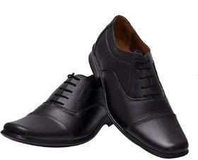 Enzo Cardini Men's Black Original Leather Formal Shoes