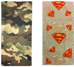Atyourdoor Men's Polyester Multipurpose Bandana - Set of 2(BanANCreamsuper2)