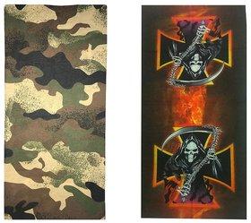 Atyourdoor Men's Polyester Multipurpose Bandana - Set of 2(BanANAxe2)