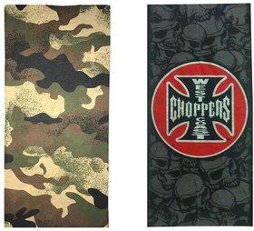 Atyourdoor Men's Polyester Multipurpose Bandana - Set of 2(BanANWest2)