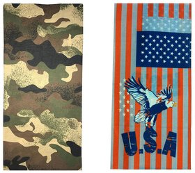 Atyourdoor Men's Polyester Multipurpose Bandana - Set of 2(BanANBird2)