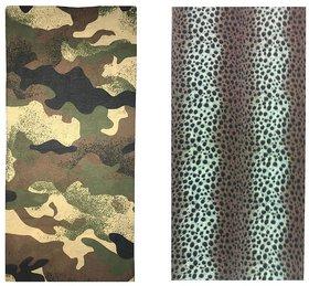 Atyourdoor Men's Polyester Multipurpose Bandana - Set of 2(BanANLEO2)