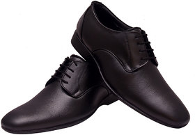 Enzo Cardini Men's Black Original Leather Formal Shoes