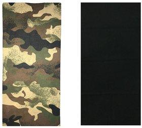 Atyourdoor Men's Polyester Multipurpose Bandana - Set of 2(BanANPB2)