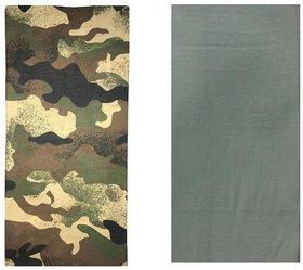 Atyourdoor Men's Polyester Multipurpose Bandana - Set of 2(BanANPG2)
