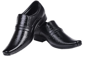 Enzo Cardini Men's Black Synthetic Leather Formal Shoes - 134930200