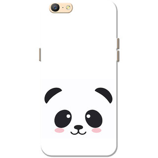 Oppo A57 Case Black Cute Panda White Slim Fit Hard Cover Back