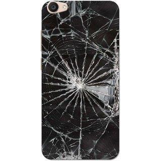 timeless design ab690 844f3 Vivo V5 Plus Case, Broken Glass Black White Slim Fit Hard Case Cover/Back  Cover for Vivo V5 Plus