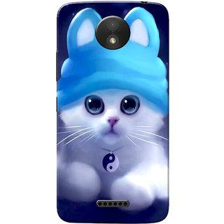 newest collection f8680 7f8ba Moto C Plus Case, Cute Kitten Blue Slim Fit Hard Case Cover/Back Cover for  Motorola Moto C Plus