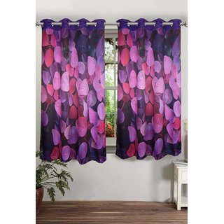 Lushomes Digitally Printed Flowerbed Polyster Blackout Curtains with 8 Metal Eyelets for Window Single pc. (Size: 48 x60 )