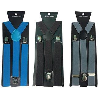 Atyourdoor Y- Back Suspenders for Men(Blue Dark Brown Grey Color)