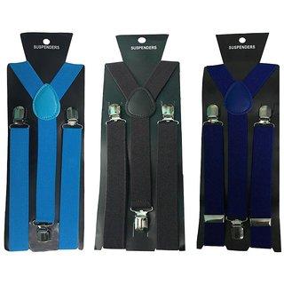 Atyourdoor Y- Back Suspenders for Men(Blue Dark Brown Royal Blue Color)