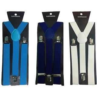 Atyourdoor Y- Back Suspenders for Men(Blue Royal Blue White Color)