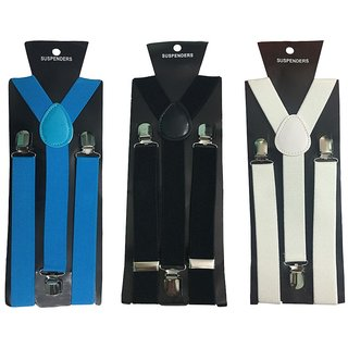 Atyourdoor Y- Back Suspenders for Men(Blue Black White Color)