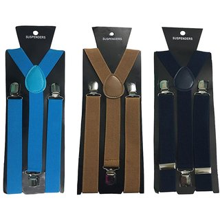 Atyourdoor Y- Back Suspenders for Men(Blue Choco Navy Blue Color)