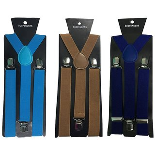 Atyourdoor Y- Back Suspenders for Men(Blue Choco Royal Blue Color)