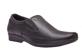 Enzo Cardini Men's Black Synthetic Leather Formal Shoes