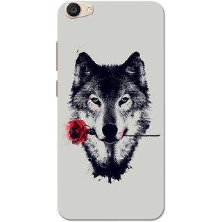 Vivo V5 Plus Case, The Wolf In Love Red Grey Slim Fit Hard Case Cover/Back  Cover for Vivo V5 Plus