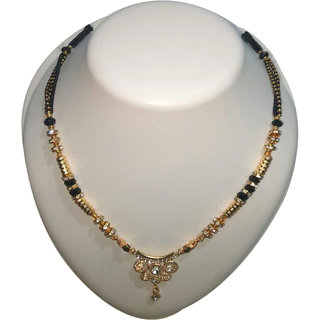 Br Pearl Gold Plated Multicolor  Mangalsurtra For Women