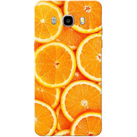 Galaxy J7 2016 Case, Galaxy On8 Case, Orange Slices Slim Fit Hard Case Cover/Back Cover for Samsung Galaxy On8/ J7 2016
