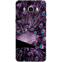 Galaxy J7 2016 Case, Galaxy On8 Case, Peacock With Feathers Purple Slim Fit Hard Case Cover/Back Cover for Samsung Galaxy On8/ J7 2016