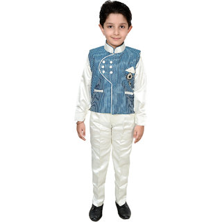 Arshia Fashions Boys Shirt Pant and Waistcost Set