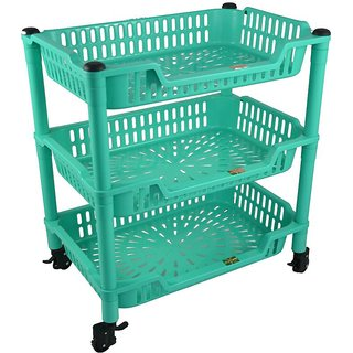 Action Ware CN - 835 trolley Plastic Kitchen Rack  (Multicolor)