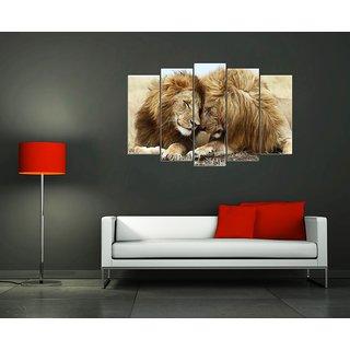 Wall Sticker Lions Design (Cover Area :- 36 X 23 inch)