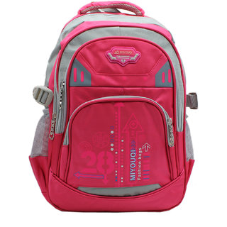 Trendy Pink Colour Casual Backpack with Laptop Sleeve