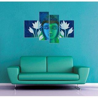 Wall Sticker Lord Buddha Design (Cover Area :- 32 X 24 inch)