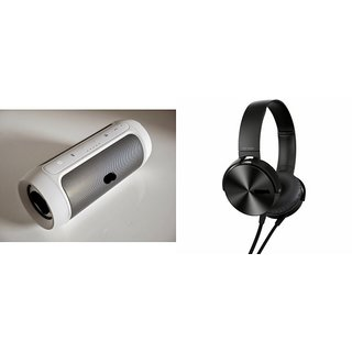 CUBA Bluetooth Speaker (JBL Charge 2+ Speaker) And Headphones (Extra Bass XB450 Headphones) for XOLO A1000