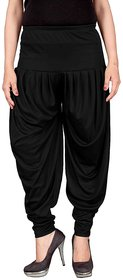 Navyataa Women's Lycra Dhoti Pants For Women Patiyala Dhoti Lycra Salwar Free Size Black Color