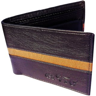 Friends  Company Genuine Black Lining Mens Leather Wallet-FashioncodeFC45