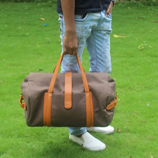 Round Canvas Duffel Bag