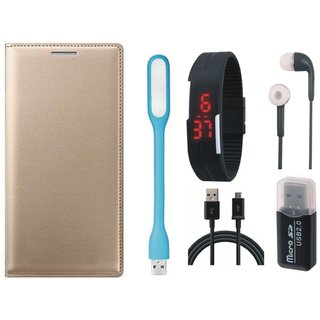 Samsung J7 Pro Cover with Memory Card Reader, Digital Watch, Earphones, USB LED Light and USB Cable