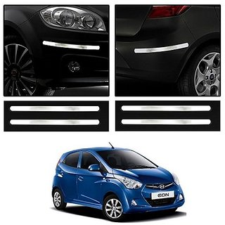 Trigcars Hyundai Eon Car Chrome Bumper Scratch Potection Guard