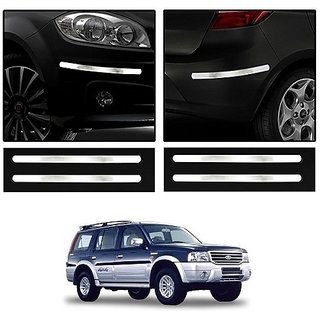 Trigcars Ford Endeavour Old Car Chrome Bumper Scratch Potection Guard