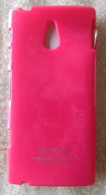 pink  Ultra Thin Rubberized Matte Hard Case Cover for Sony Xperia P LT22i