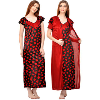 17fcdcc62b9 Boosah Multicolor Satin Printed Nightwear Sets - (Pack of 2)
