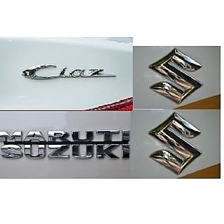Logo MARUTI SUZUKI CIAZ Monogram Chrome Car Monogram Emblem DECALS BADGE FAMILY PACK