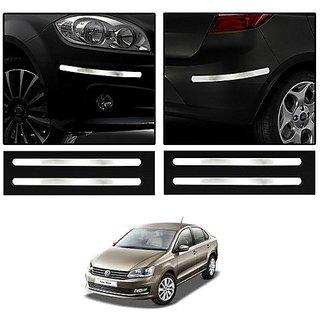 Trigcars Volkswagen Vento Car Chrome Bumper Scratch Potection Guard