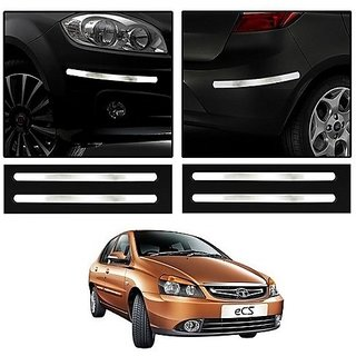 Trigcars Tata Indigo eCS Car Chrome Bumper Scratch Potection Guard
